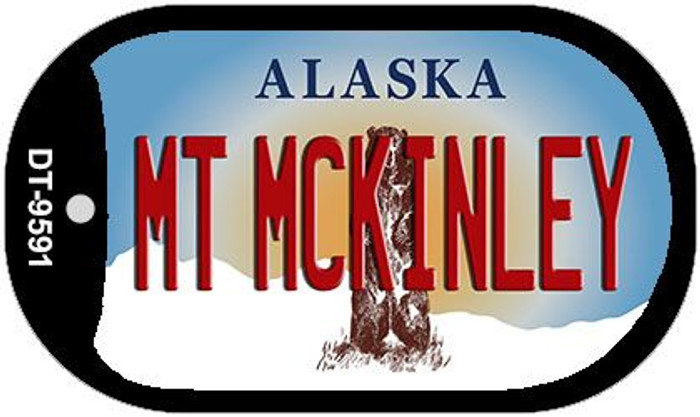 Mt McKinley Alaska Novelty Metal Dog Tag Necklace DT-9591