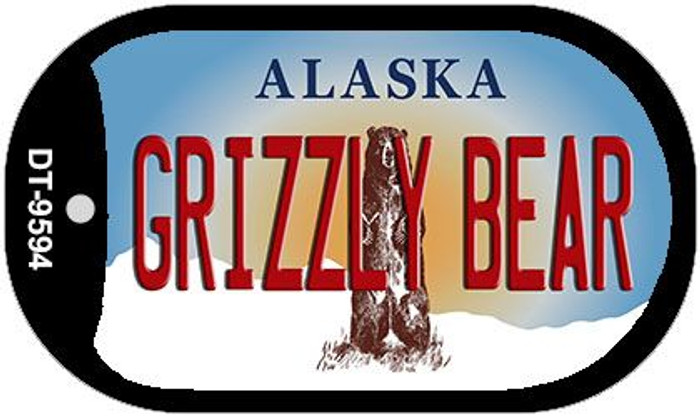 Grizzly Bear Alaska Novelty Metal Dog Tag Necklace DT-9594