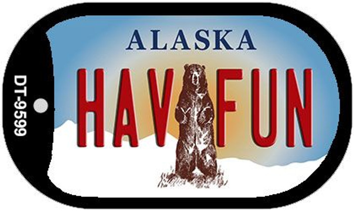 Have Fun Alaska Novelty Metal Dog Tag Necklace DT-9599