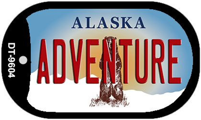 Adventure Alaska Novelty Metal Dog Tag Necklace DT-9604