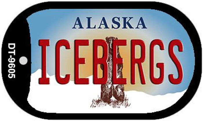 Icebergs Alaska Novelty Metal Dog Tag Necklace DT-9605