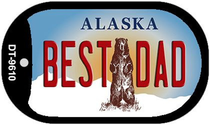 Best Dad Alaska Novelty Metal Dog Tag Necklace DT-9610