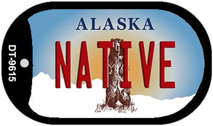 Native Alaska Novelty Metal Dog Tag Necklace DT-9615