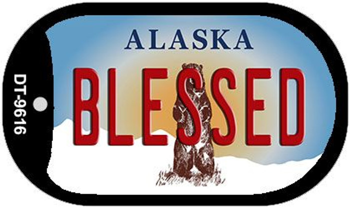 Blessed Alaska Novelty Metal Dog Tag Necklace DT-9616