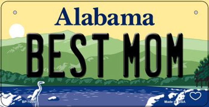 Best Mom Alabama Novelty Metal Bicycle Plate BP-10000