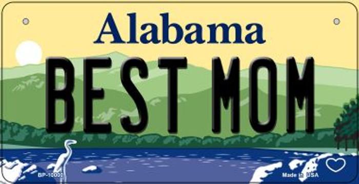 Best Mom Alabama Novelty Metal Bicycle Plate BP-10000