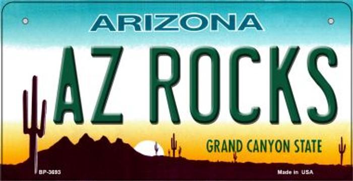 AZ Rocks Arizona Novelty Metal Bicycle Plate BP-3693