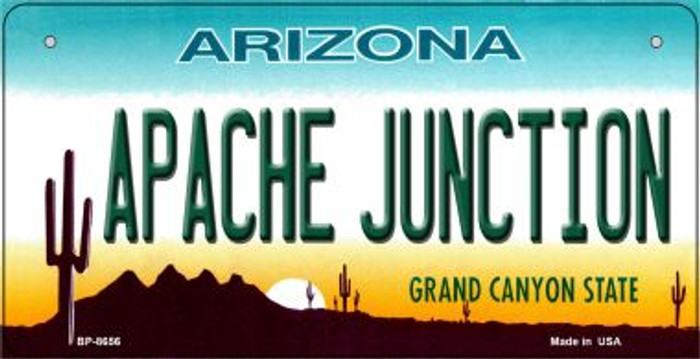 Apache Junction Arizona Novelty Metal Bicycle Plate BP-8656