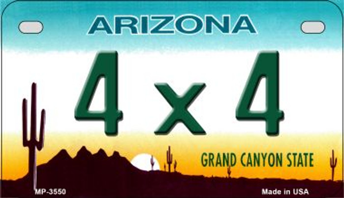 4 x 4 Arizona Novelty Metal Motorcycle Plate MP-3550
