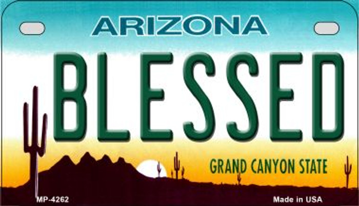 Blessed Arizona Novelty Metal Motorcycle Plate MP-4262