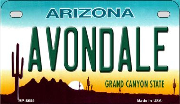 Avondale Arizona Novelty Metal Motorcycle Plate MP-8655