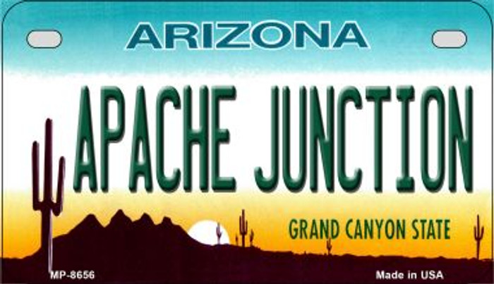 Apache Junction Arizona Novelty Metal Motorcycle Plate MP-8656
