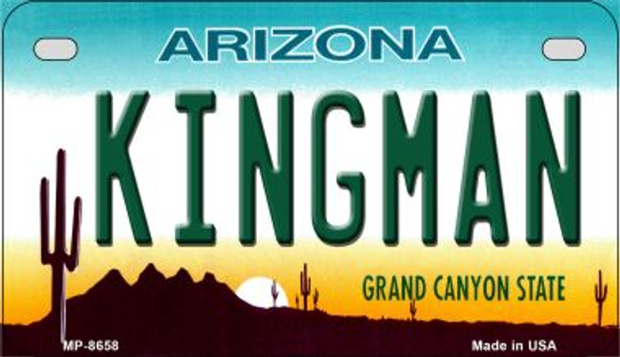 Kingman Arizona Novelty Metal Motorcycle Plate MP-8658
