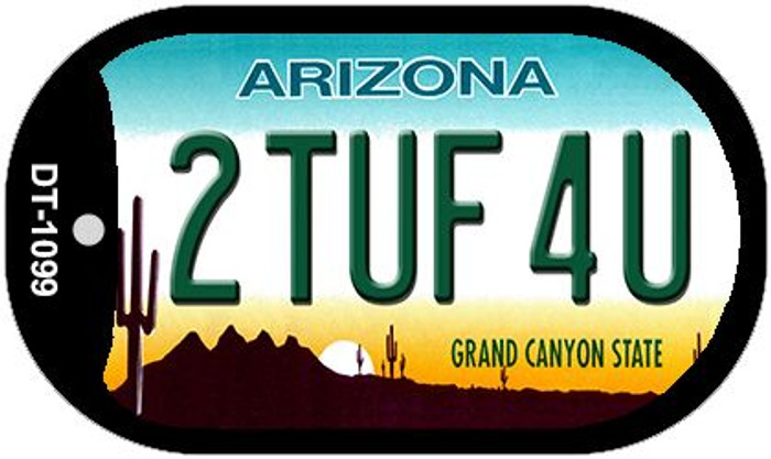 2 Tuf 4U Arizona Novelty Metal Dog Tag Necklace DT-1099