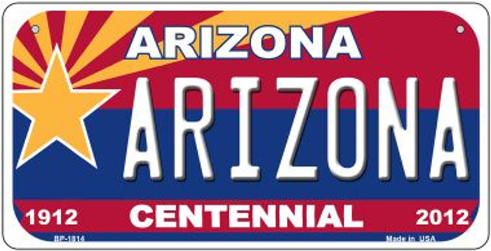 Arizona Centennial Novelty Metal Bicycle Plate BP-1814