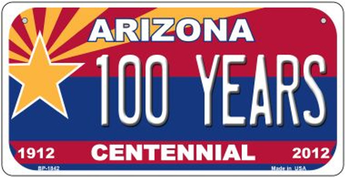100 Years Arizona Centennial Novelty Metal Bicycle Plate BP-1842