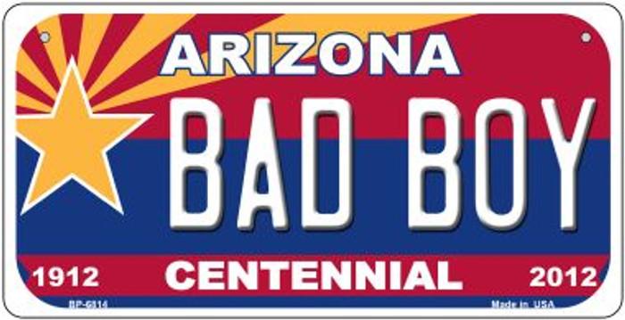 Bad Boy Arizona Centennial Novelty Metal Bicycle Plate BP-6814