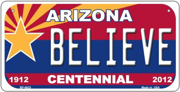 Believe Arizona Centennial Novelty Metal Bicycle Plate BP-6823