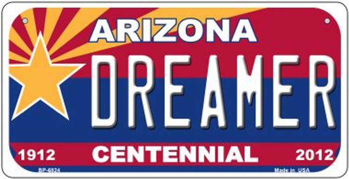 Dreamer Arizona Centennial Novelty Metal Bicycle Plate BP-6824