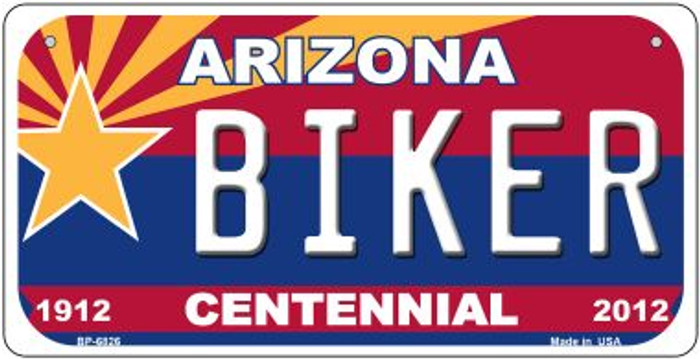 Biker Arizona Centennial Novelty Metal Bicycle Plate BP-6826