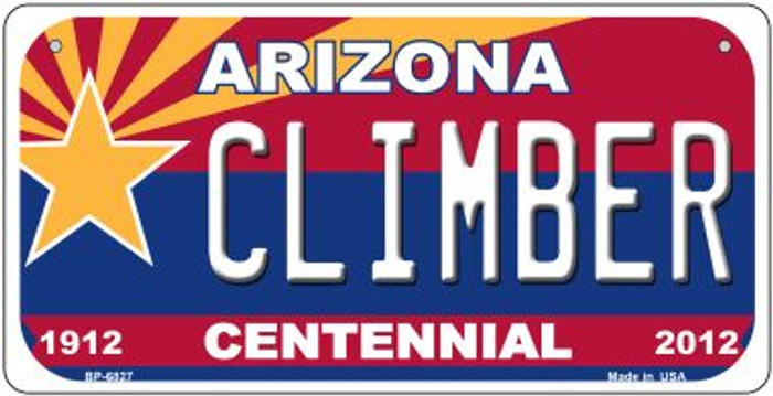 Climber Arizona Centennial Novelty Metal Bicycle Plate BP-6827