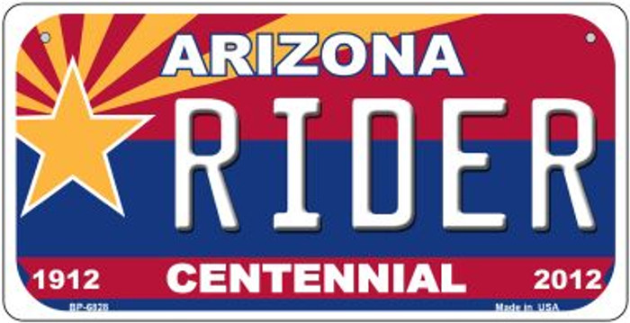 Rider Arizona Centennial Novelty Metal Bicycle Plate BP-6828