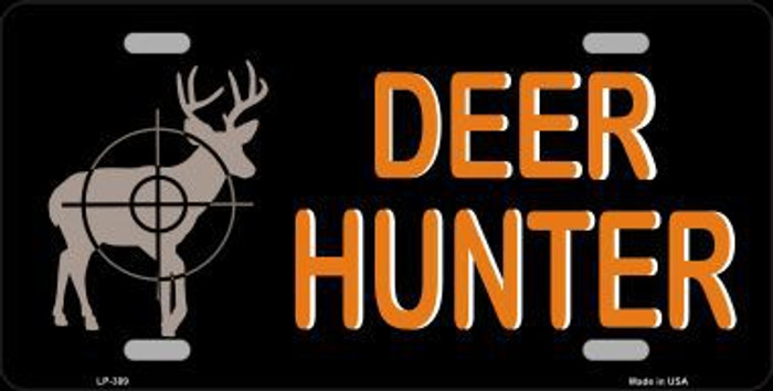 Deer Hunter Metal Novelty License Plate