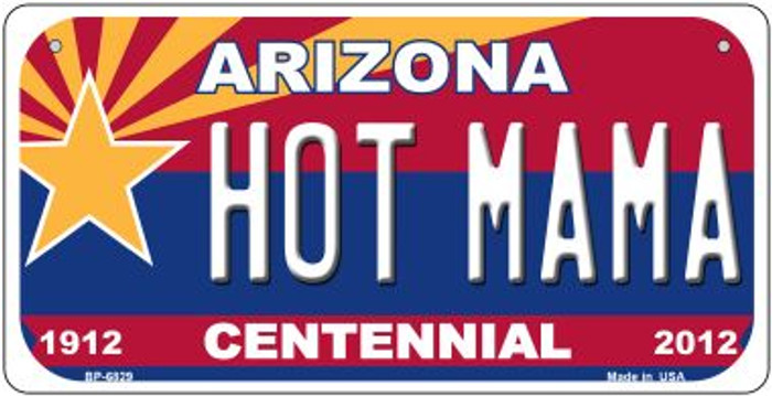 Hot Mama Arizona Centennial Novelty Metal Bicycle Plate BP-6829