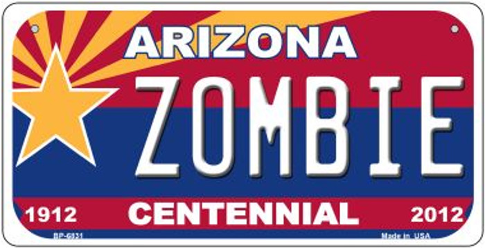 Zombie Arizona Centennial Novelty Metal Bicycle Plate BP-6831
