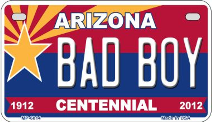 Bad Boy Arizona Centennial Novelty Metal Motorcycle Plate MP-6814