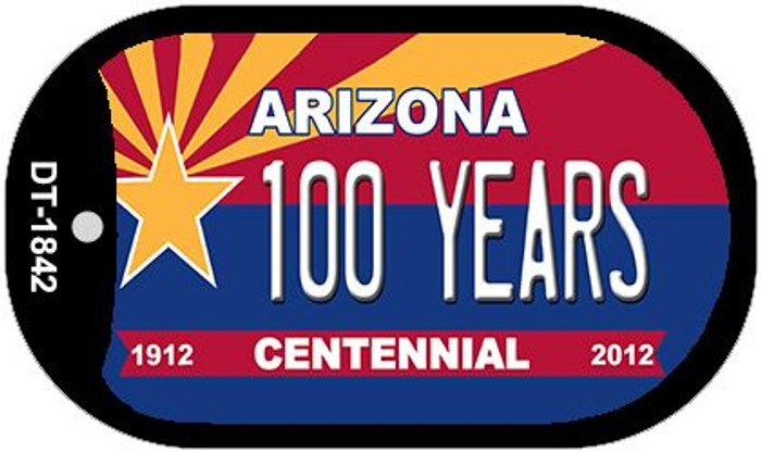 100 Years Arizona Centennial Novelty Metal Dog Tag Necklace DT-1842