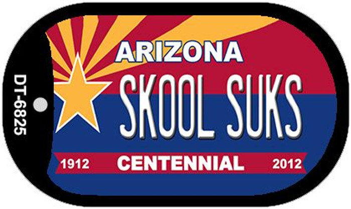 Skool Suks Arizona Centennial Novelty Metal Dog Tag Necklace DT-6825