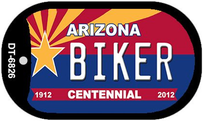 Biker Arizona Centennial Novelty Metal Dog Tag Necklace DT-6826