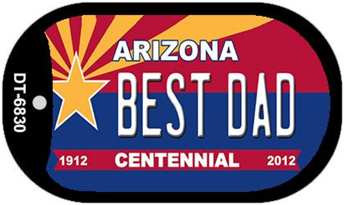 Best Dad Arizona Centennial Novelty Metal Dog Tag Necklace DT-6830