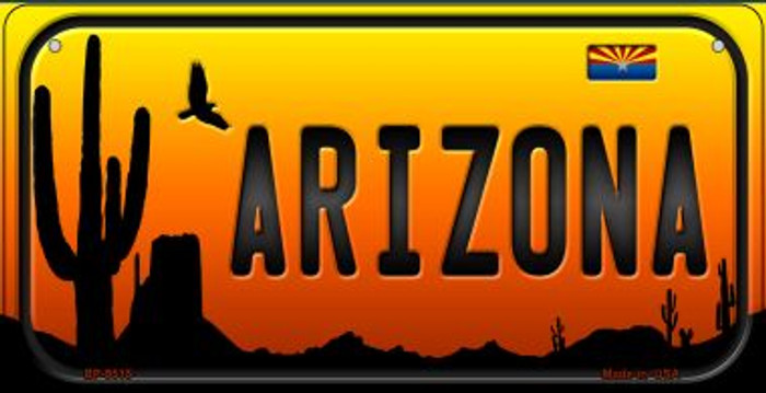 Arizona Western Novelty Metal Bicycle Plate BP-9515