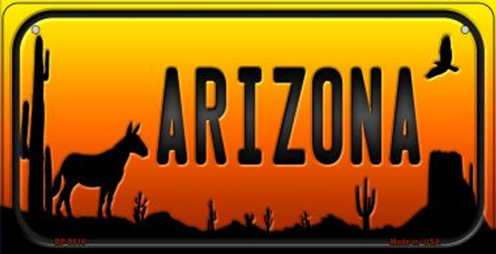 Donkey Arizona Western Novelty Metal Bicycle Plate BP-9518