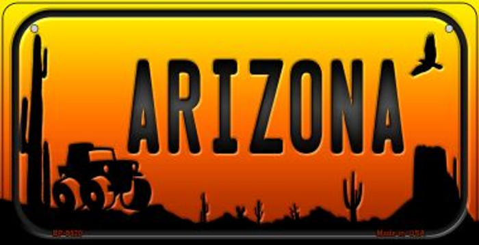 Jeep Arizona Western Novelty Metal Bicycle Plate BP-9520