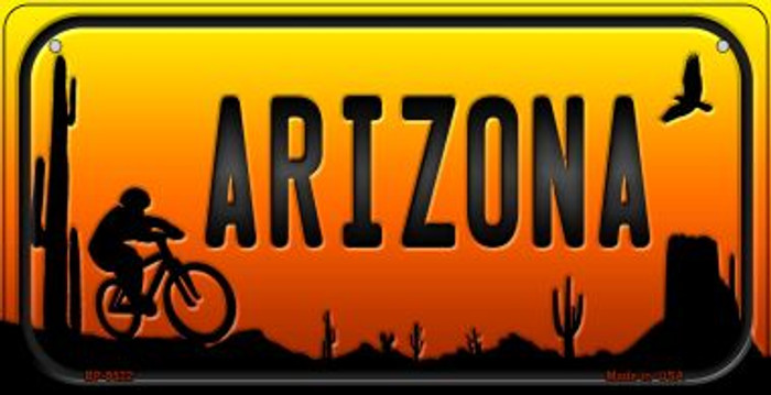 Bike Arizona Western Novelty Metal Bicycle Plate BP-9522