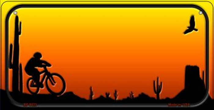Bike Sunet Arizona Western Novelty Metal Bicycle Plate BP-9523