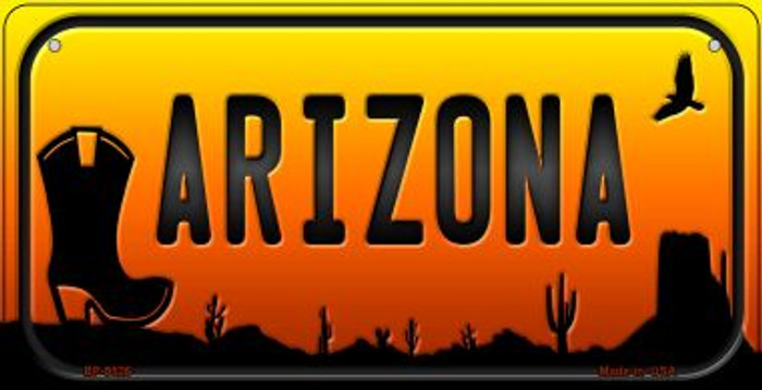 Boot Arizona Western Novelty Metal Bicycle Plate BP-9526