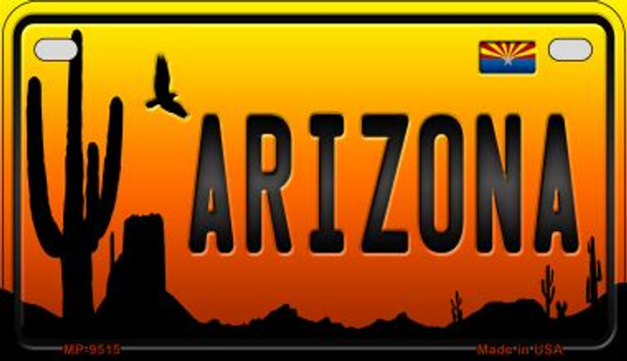Arizona Western Novelty Metal Motorcycle Plate MP-9515