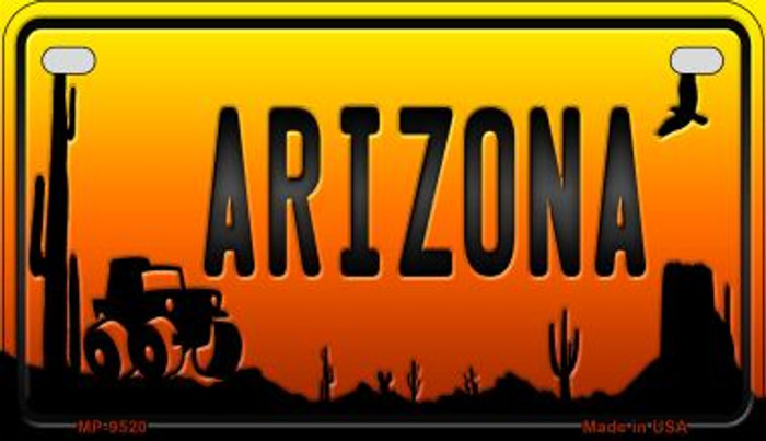 Jeep Arizona Western Novelty Metal Motorcycle Plate MP-9520