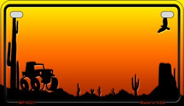Jeep Sunset Arizona Western Novelty Metal Motorcycle Plate MP-9521