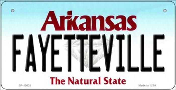 Fayetteville Arkansas Novelty Metal Bicycle Plate BP-10028