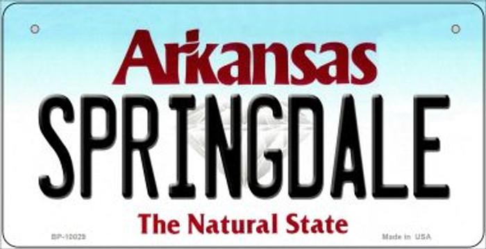 Springdale Arkansas Novelty Metal Bicycle Plate BP-10029