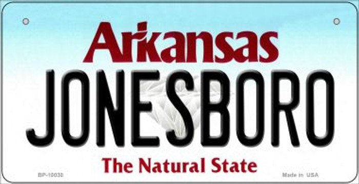 Jonesboro Arkansas Novelty Metal Bicycle Plate BP-10030