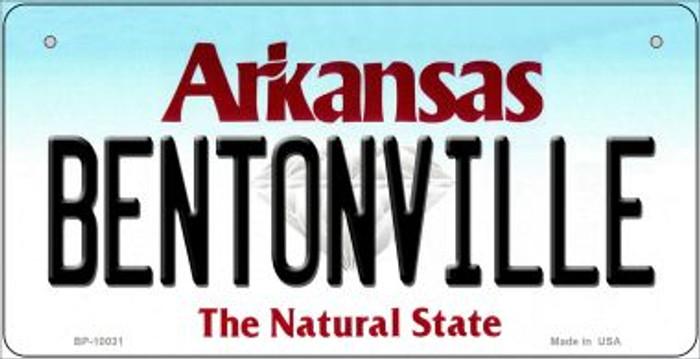 Bentonville Arkansas Novelty Metal Bicycle Plate BP-10031