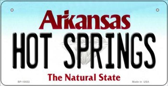 Hot Springs Arkansas Novelty Metal Bicycle Plate BP-10032