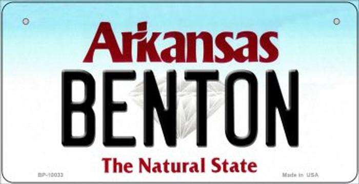 Benton Arkansas Novelty Metal Bicycle Plate BP-10033