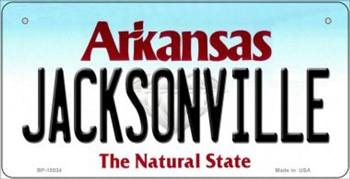 Jacksonville Arkansas Novelty Metal Bicycle Plate BP-10034